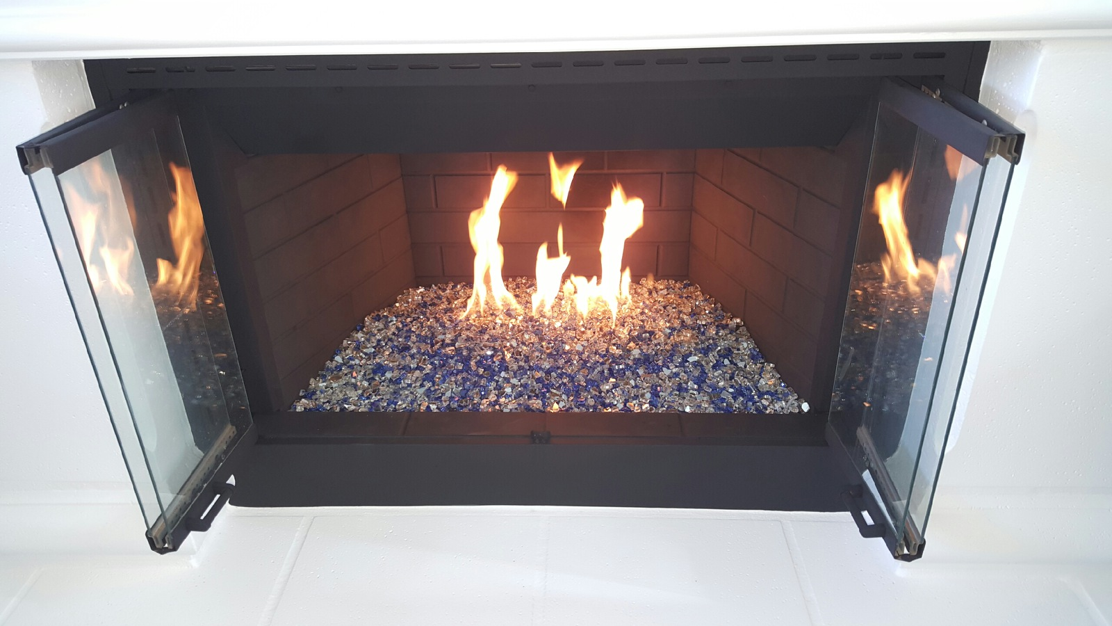quarter inch reflective fireglass san diego chimney sweep
